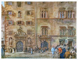 Landhaus and Old Zeughaus in Graz Collectable Print by Rudolph von Alt