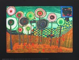 Black Girl, Discovery in the Kingdom of the Toros Reproductions pour les collectionneurs par Friedensreich Hundertwasser