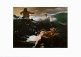 In the Waves Prints by Arnold Bocklin