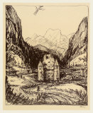 Castle Saalhof Im Pinzgau Samlertryk af Alfred Kubin