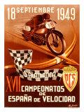 Course de motos à Salamanque Impression giclée par  Gracia