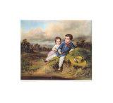Kinder Am Bach Sammlerdruck von August Xaver Karl Von Pettenkofen