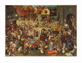 The Fight Between Carnival and Lent Collectable Print by Pieter Bruegel the Elder