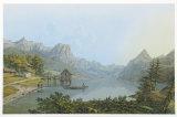 Lake Grundlsee Samlertryk af Jakob Alt