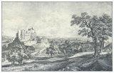 Ruin of the Castle Liechtenstein Samlertryk af Johann Christian Brand