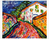 A White House in Dangast, 1908 Prints by Erich Heckel
