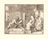 In a Farmers Inn Collectable Print by Adriaen Brouwer