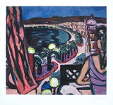 Promenade des Anglais À Nice Collectable Print by Max Beckmann