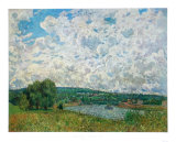 Bords de la Seine Samletrykk av Alfred Sisley