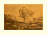 Landscape with a Tree Collectable Print by Jean-Baptiste-Camille Corot
