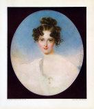 Lady with a Pearl Necklet Samlertryk af Moritz Michael Daffinger