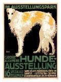 Hunde Ausstellung Reproduction procédé giclée par Julius Edmond Robert Nitsche