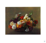Flowers in a Basket Collectable Print by Henri Fantin-Latour
