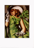 Young Girl with Gloves in Green, 1929 Prints by Tamara de Lempicka