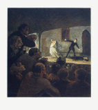 The Play Collectable Print by Honore Daumier