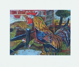 Cock and Hens Collectable Print by Otto Dix