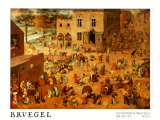 Children's Games Posters by Pieter Bruegel the Elder
