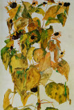 Sunflowers Prints by Egon Schiele