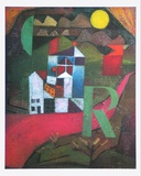 Villa R., 1919 Poster by Paul Klee