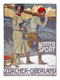 Winter Sport, Zurcher, Oberland Giclee Print by  Marxer