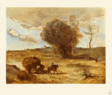 The Waggon in the Dunes Collectable Print by Jean-Baptiste-Camille Corot