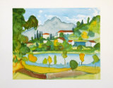 Montain Village in the Tessine at the Lake Agno Prints by Hermann Hesse