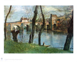 The Bridge of Mantes Collectable Print by Jean-Baptiste-Camille Corot