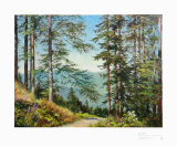 Path to the Valley Collectable Print by Ernst Frommhold