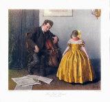 Chaconne Cellist and a Girl Samletrykk av Douglas Adams