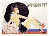 Mistinguett Impression giclée par  Zig (Louis Gaudin)