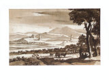 Landscape with Towers and a Drove Samlertryk af Claude Lorrain