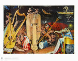The Musician S Hell Collectable Print by Hieronymus Bosch