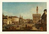 Florence, Piazza della Signoria Collectable Print by Bernardo Bellotto