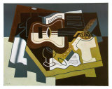 Guitar and Clarinet, 1920 Psters por Juan Gris