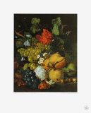 Fruits, Flowers and Insects Collectable Print by Jan van Huysum