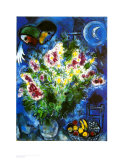 Still Life with Flowers Art by Marc Chagall