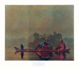 Fur Traders on the Missouri Collectable Print by George Caleb Bingham