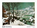 Winter (Hunters in the Snow) Kunstdrucke von Pieter Bruegel the Elder