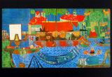 Der Wunderbare Fischfang Lámina por Friedensreich Hundertwasser