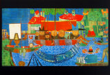 Wonderful Fishing Posters by Friedensreich Hundertwasser