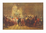 The Flute-Concert of Friedrich II in Sanssouci Collectable Print by Adolph Von Menzel