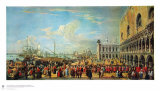 In Front of the Doge Palace in Venice Collectable Print by Luca Carlevaris