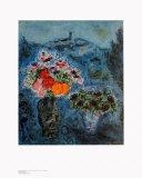 Veilchenstrauss Kunstdrucke von Marc Chagall