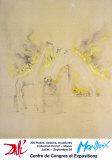 Burning Giraffes in Yellow Plakat av Salvador Dalí