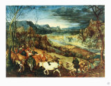 Autumn, The Homecoming of the Herd Collectable Print by Pieter Bruegel the Elder