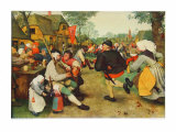 Peasants Dance Collectable Print by Pieter Bruegel the Elder