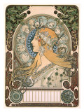 Zodiac Giclee Print by Alphonse Mucha