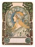 Zodiak Lámina giclée por Alphonse Mucha