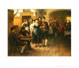Vor dem Tanz Kunstdruck von Franz Von Defregger
