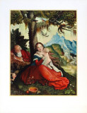 The Holy Family Collectable Print by Hans Baldung Grien